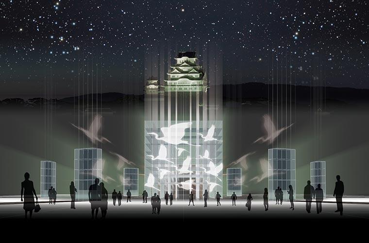世界遺産登録25周年を記念したイルミネーションイベント「姫路城 光の庭 CASTLE OF LIGHT」