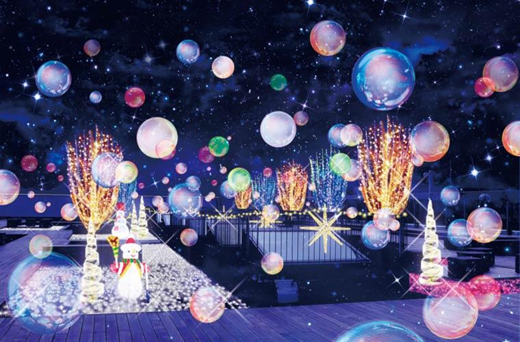 「ピオレ姫路」のクリスマスイルミネーションがパワーアップしてスタート!