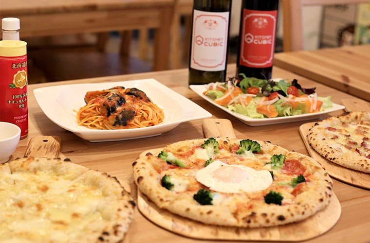 【赤穂】イタリアン「キッチンキュービック」の石窯で焼く手作りピザと自家製ソースパスタが人気!