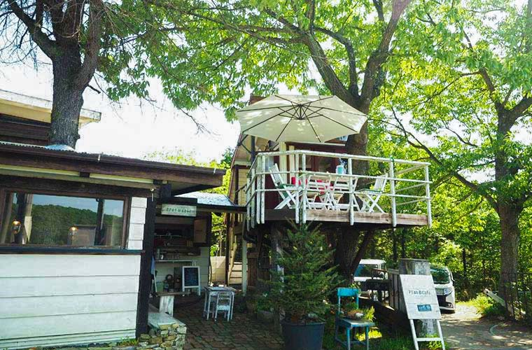 【小野】ツリーハウスが人気の「プラートカフェ」手作りマフィンはテイクアウトOK!