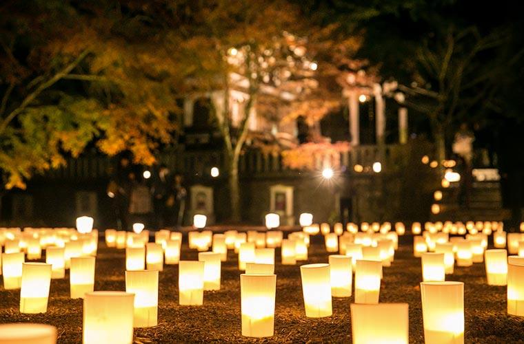 【加東】約2000基の灯籠が揺らめく播州清水寺「千燈会」インスタ映えスポットもたくさん♪