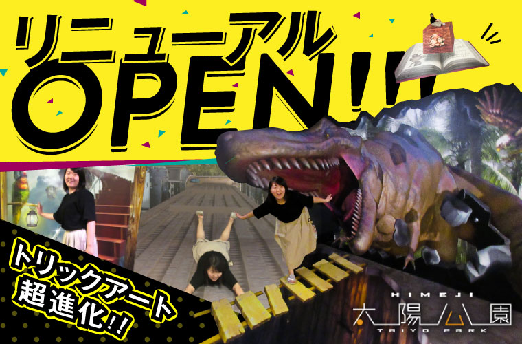 【姫路】関西最大級!太陽公園のトリックアートがリニューアルオープン!インスタ映えを狙って♪