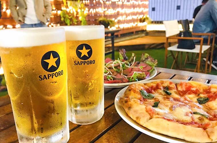 【姫路駅前】フェスタ屋上ビアガーデン「ステラ」開催!飲み放題&イタリアンが食べ放題♪
