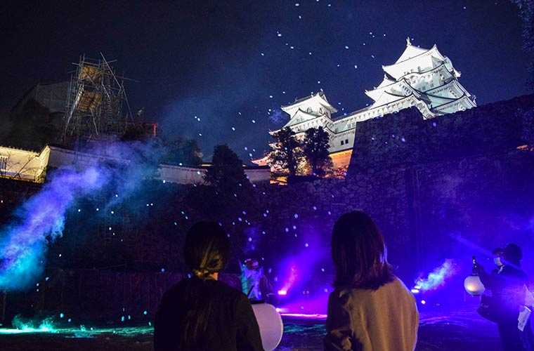 姫路城のナイトイベントで幻想的なライトアップと最先端の体験型イベントを!