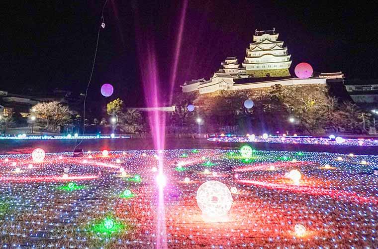 姫路城のイルミネーションイベント「フォーシーズンファンタジア hitotose」が開催♪
