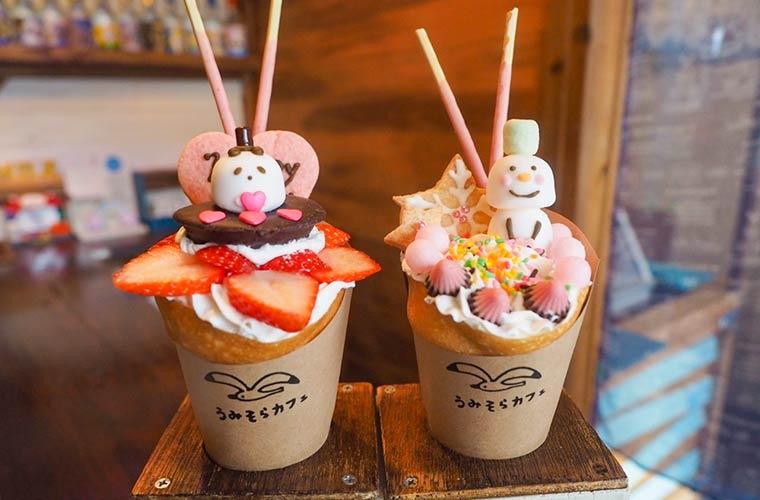 【加古川】かわいいクレープが人気の「うみそらカフェ」カスタマイズできる『デコクレープ』にも注目♪
